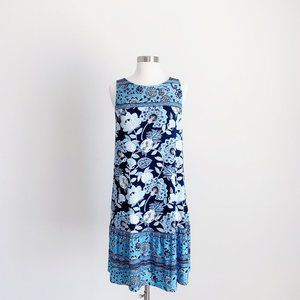 LOFT - NWT Maternity Sleeveless Blue Floral Dress